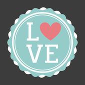 Love seal design  — Stock Vector