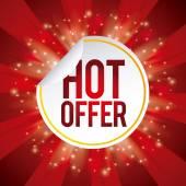 Hot offer  — Stock Vector