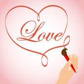 Любовная карта — Cтоковый вектор