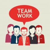 Teamwork design. — Stock Vector