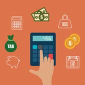Taxes design. — Stock Vector