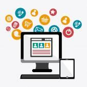 Online Media design. — Stock Vector