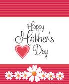 Gelukkig moeders dag kaart ontwerp. — Stockvector