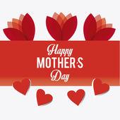 Design de cartão de dia das mães feliz. — Vetor de Stock