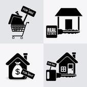 Projeto imobiliário. — Vetor de Stock