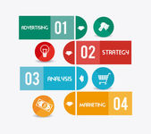 Marketing design illustration — Stock Vector