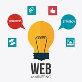 Marketing design illustration — Vetor de Stock
