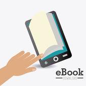 Ebook design illustration — Stock Vector