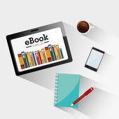 Ebook design illustration — Vector de stock