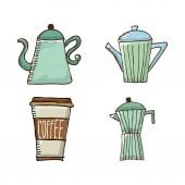 咖啡时间 — 图库矢量图片