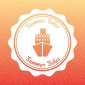Summer sales  — Stock Vector