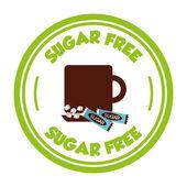 Sugar free  — Stock Vector