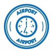 Letiště známky — Stock vektor