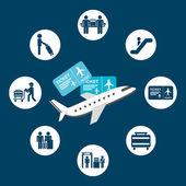 Havalimanı işaretleri — Stok Vektör