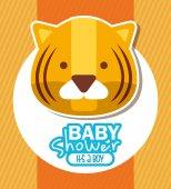 Bebek duş — Stok Vektör
