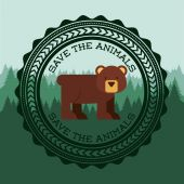 Animal cute  — Stock Vector