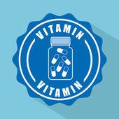 Capsule vitamin — Stock Vector