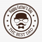 Happy fathers day card design. — Stock Vector