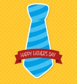Happy fathers day card design. — Vecteur