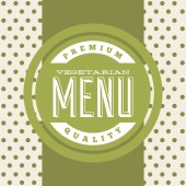 Vegetarian food menu  — Stock Vector