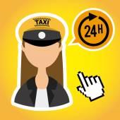 Taksówka — Wektor stockowy