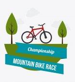 Bike design illustration — Stock Vector