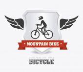 自転車の設計図 — ストックベクタ