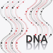 Ilustración de diseño Dna — Vector de stock