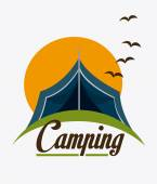 Camping design illustration — Stock Vector