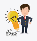 Idea design illustration — Stock Vector