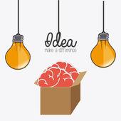 Иллюстрация дизайна идеи — Cтоковый вектор