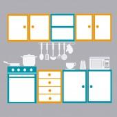 Kitchen design illustration — Stock Vector