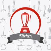 Ilustrace design kuchyně — Stock vektor
