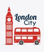 London design illustration — Stock Vector