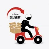 Delivery design illustration — Stock Vector