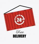 Delivery design illustration — Stock Vector