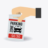 Parking design illustration — Vector de stock