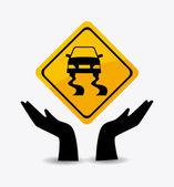 Parking design illustration — Stock Vector