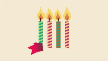 Birthday Video animation — Stock Video