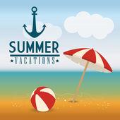 Diseño de verano. — Vector de stock
