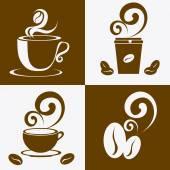 Kaffee design. — Stockvektor