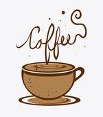 Projeto café. — Vetor de Stock