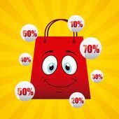 Crazy sale — Stock Vector