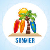 Summer vacations — Stock Vector