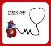 Cardiology icon — Stock Vector