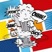 Comic pop art  — Stock vektor