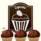 Sweet cupcake — Stock Vector