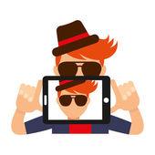 Selfie concept  — Stock Vector