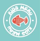 Kinderen menu — Stockvector