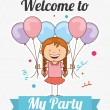Welcome to my party — Stock Vector #71023363